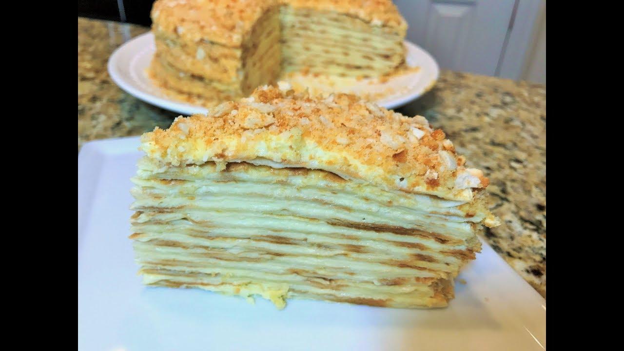 Торт без выпечки как наполеон