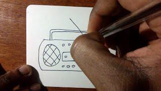 How To Draw a Cartoon Radio