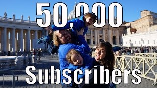 50,000 Subscribers, Thank You