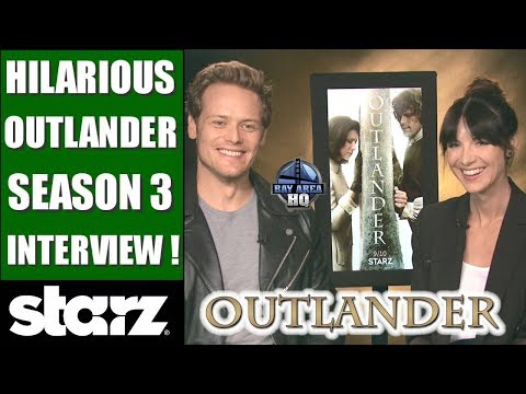 HILARIOUS Outlander Season 3 Interview - Sam Heughan & Caitriona Balfe on Taylor Swift, Jon Snow !