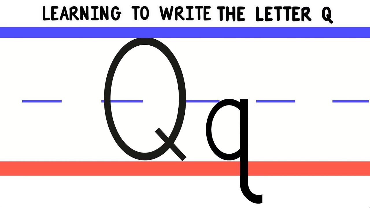 Write the Letter Q - ABC Writing for Kids - Alphabet Handwriting by 18ABCtv