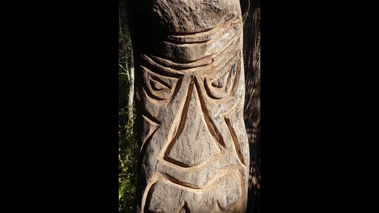 Tiki totem carving with chainsaw youtube