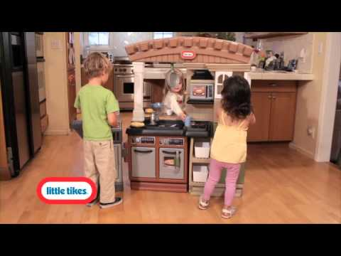 Little Tikes Play Kitchen With Grill little tikes grillin' grand kitchen - youtube