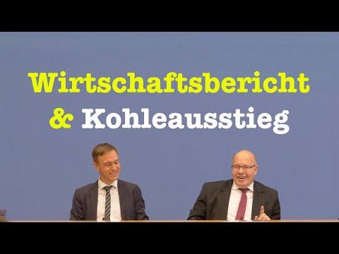 Wirtschaftsminister Peter Altmaier (CDU) über Kohleausstieg & Jahreswirtschaftsbericht 2020 - BPK