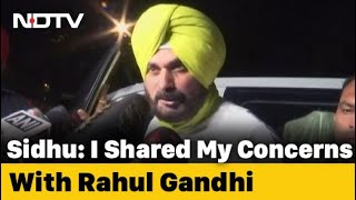 Navjot Sidhu Meets Rahul Gandhi, Cancels Resignation