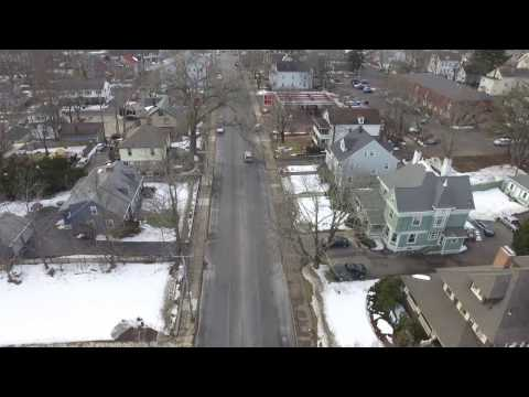 First Daytime Flight! Over snowy North Attleboro Massachusetts