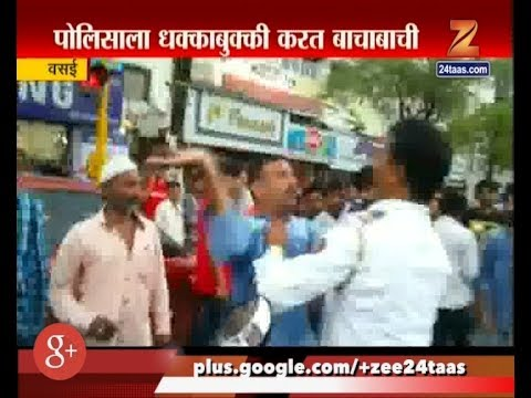 Vasai | Traffic Police Beaten By Man After Breaking Traffic Signal