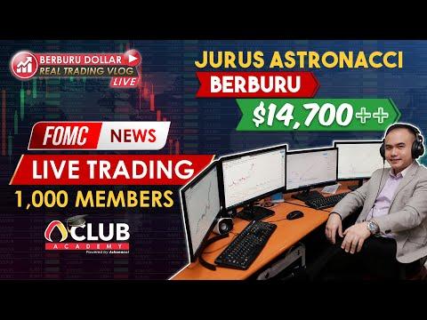 LIVE TRADING : JURUS TRADING FOMC NEWS DENGAN ASTRONACCI