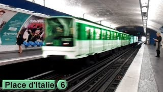 Place d'Italie | Ligne 6 : Métro de Paris ( RATP MP73 )