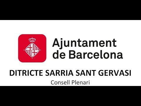 CONSELL PLENARI DISTRICTE  DE SARRIA 25/07/2019