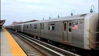 IND Subway: (A) and (S) train at Beach 98th Street [R32 / R46]