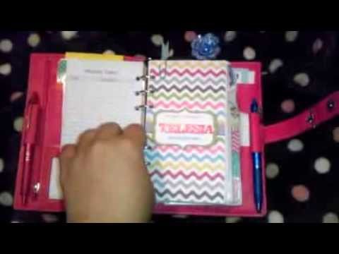2014 Daytimer Malibu Pink Portable Planner with AZ Filing YouTube – Daytimer Planner