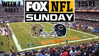 2019 NFL Season - Week 7 - (Prediction) - Saints at Bears