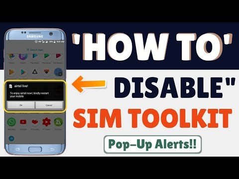 How to disable/deactivate sim toolkit pop-ups notifications