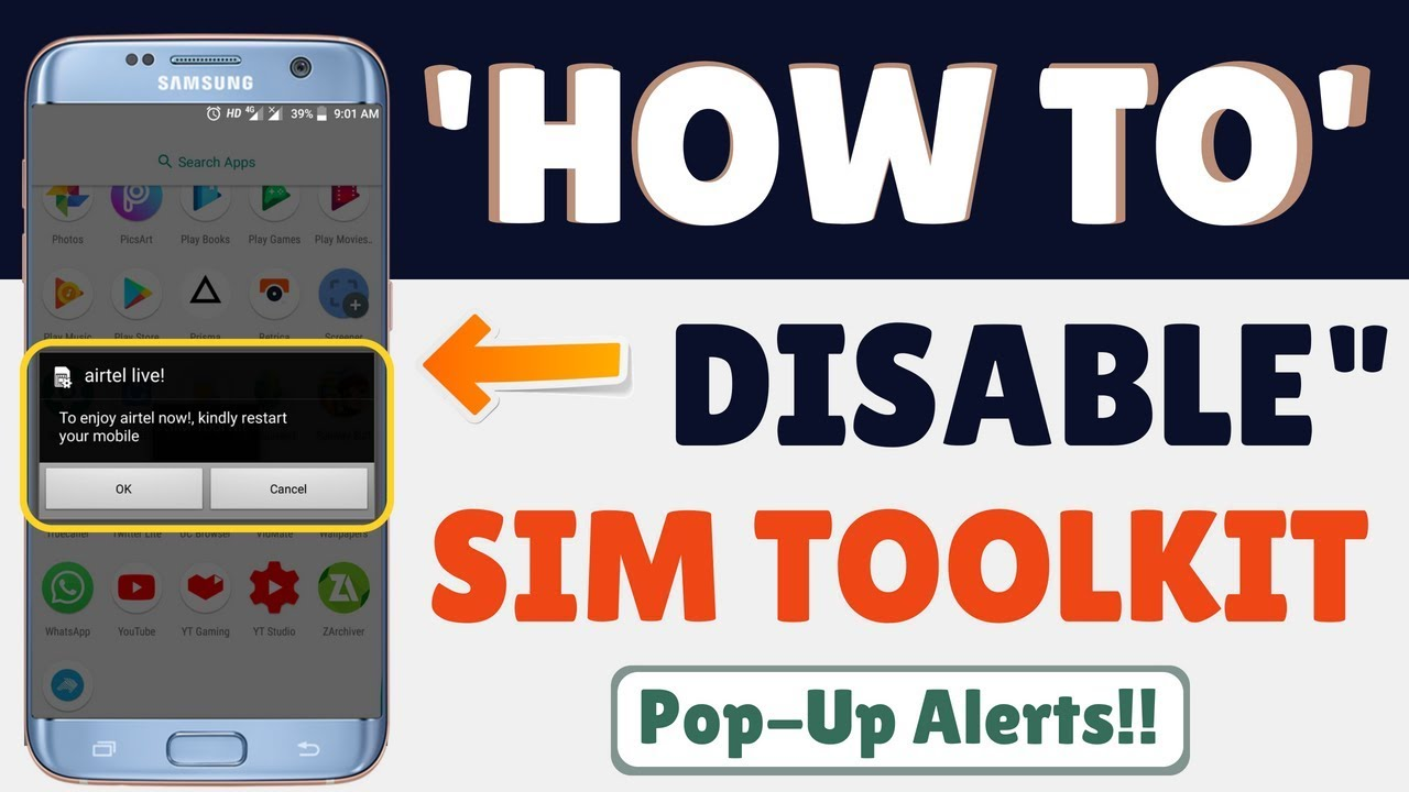 How to disable/deactivate sim toolkit pop-ups notifications !! by SNki Tech