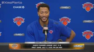 Derrick Rose - Full Introductory Press Conference - New York Knicks _ June 24, 2016 _ NBA Offseason