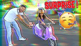 SURPRISING 6 YEAR OLD GIRL WITH A NEW SCOOTER ! (EMOTIONAL) | BRAAP VLOGS
