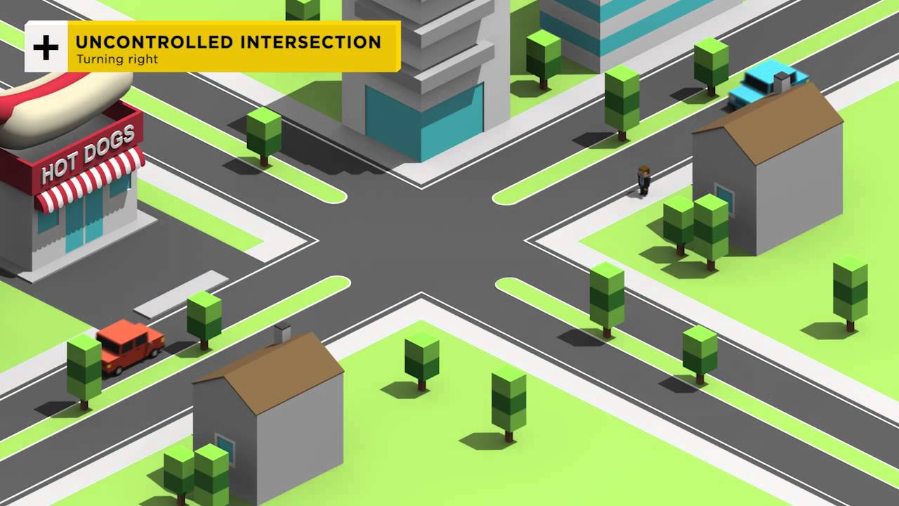 6 uncontrolled intersections 12 most asked about road rules youtube