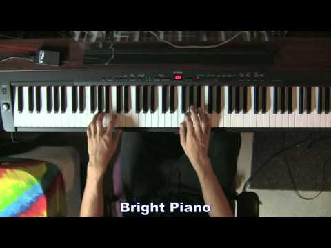 Yamaha P-155 Digital Piano - Demo of 3 Piano Brilliance Settings (HD)