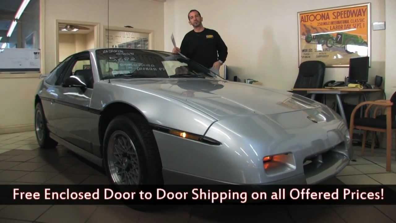 1987 Pontiac Fiero GT Lowest Mileage For Sale With Test Drive Walk Through Video
