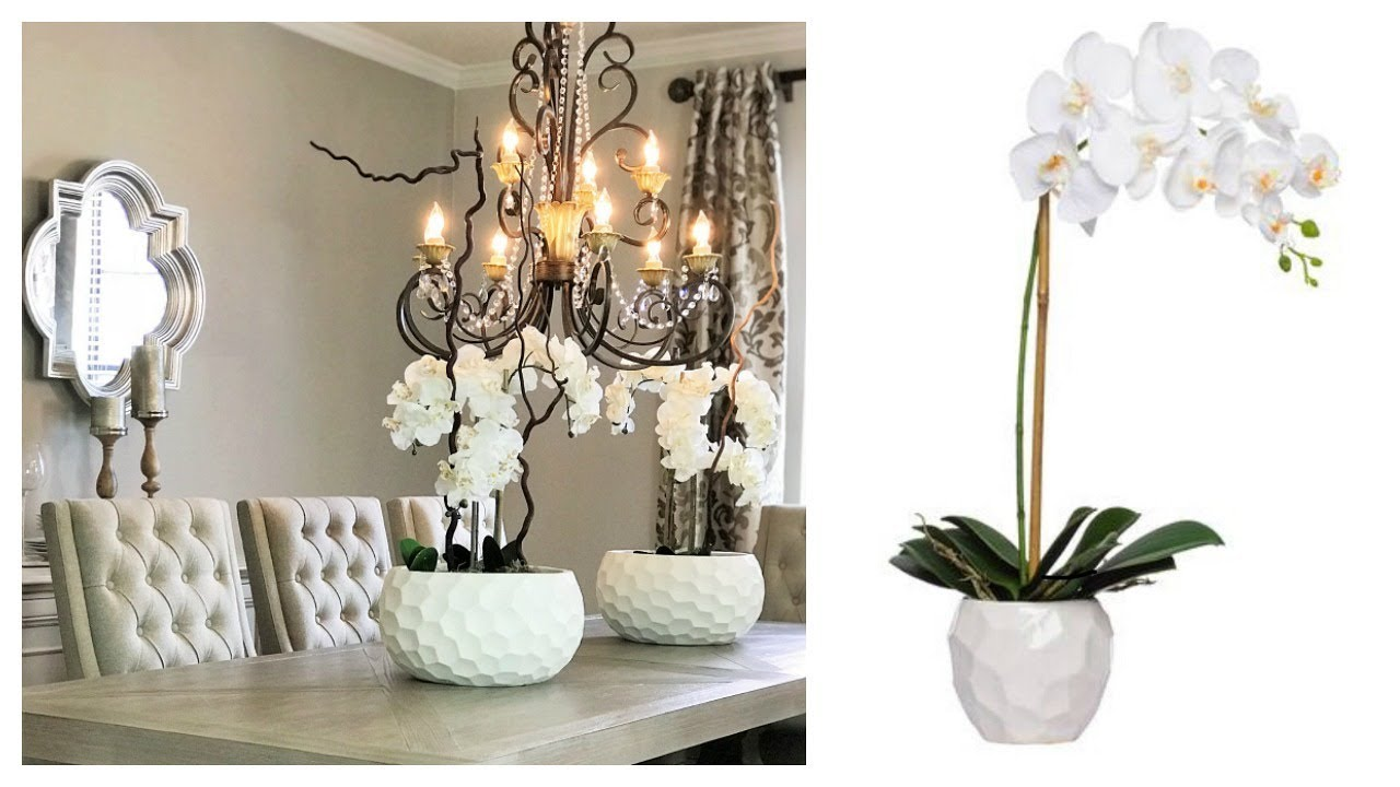 New Diy Artificial Orchid Centerpiece Youtube