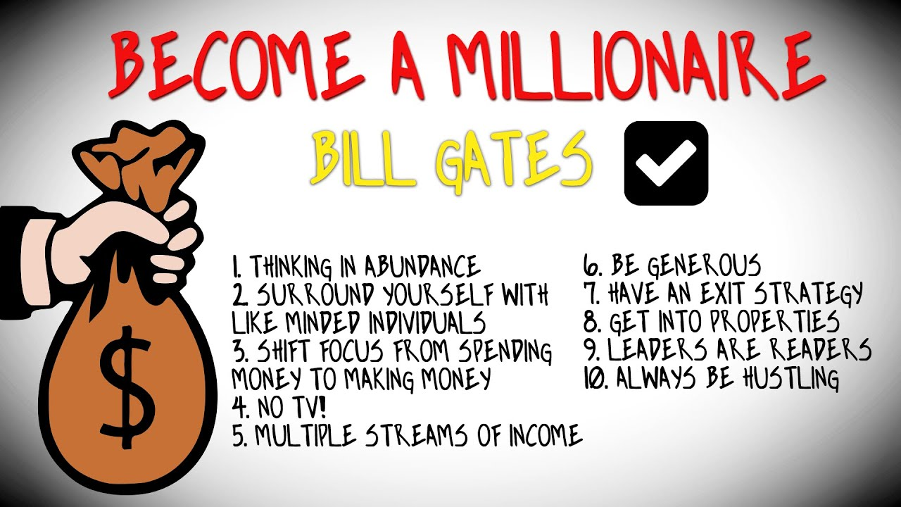 How To BECOME A MILLIONAIRE  Bill Gates  YouTube