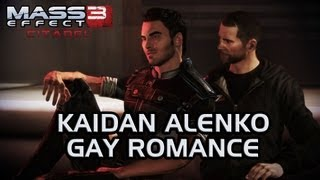 Repeat youtube video Mass Effect 3 Citadel DLC: Kaidan Gay Romance (All scenes)