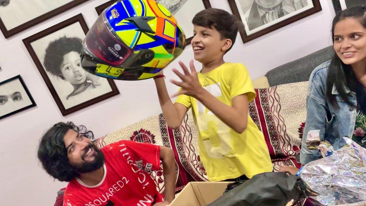New Helmet For Piyush 😍
