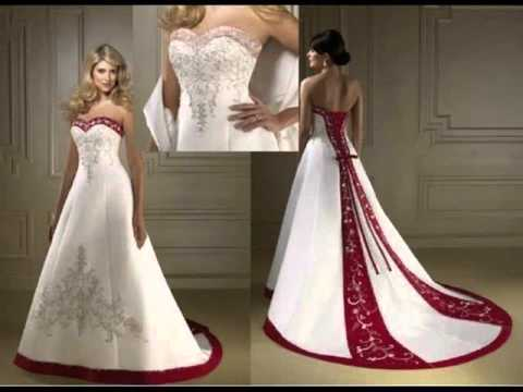 Red White Wedding Dress