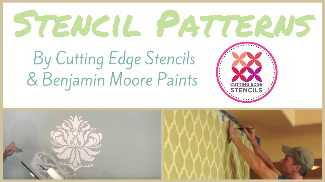 Stencil Patterns by Cutting Edge Stencils & Benjamin Moore Paints ...