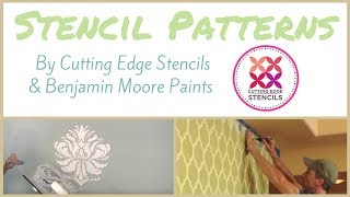 Stencil Patterns by Cutting Edge Stencils & Benjamin Moore Paints