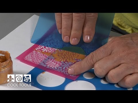 Cool Tools | Silk Screening Mica Powder on Enamel by Jan Harrell