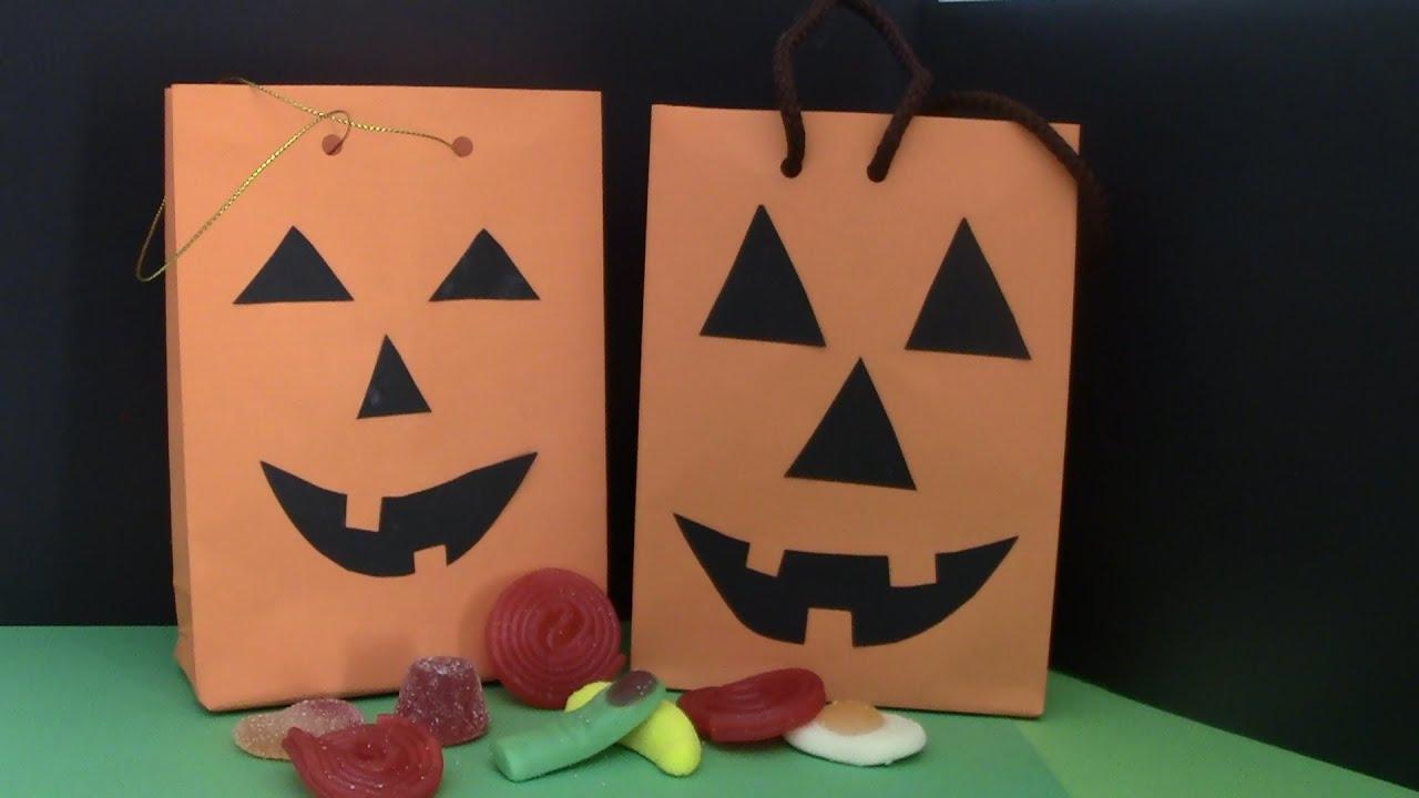 Bolsa para dulces dia de halloween youtube - Ideas para hacer en halloween ...