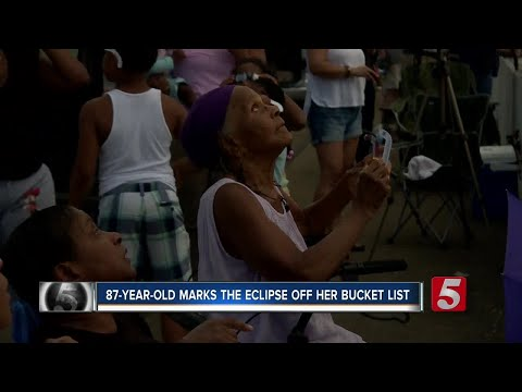 87-year-old Sees Her First And Last Total Solar Eclipse