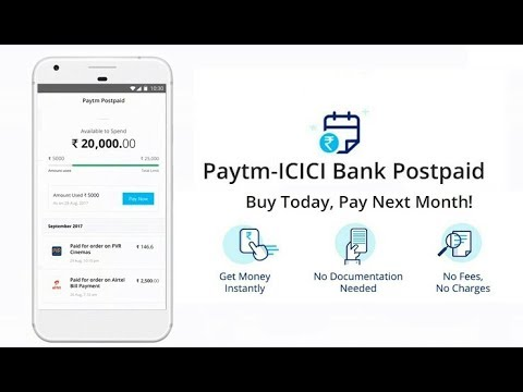Paytm Postpaid   Use today and Pay Next Month