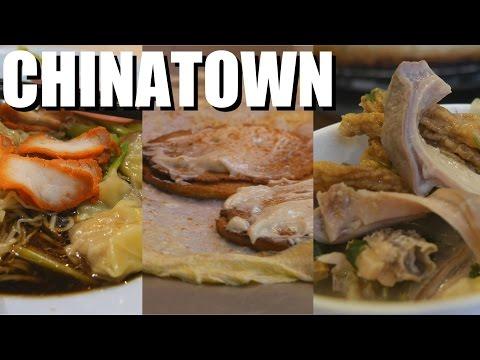 EATING RANDOM FOOD in Chinatown, Penang, Malaysia 4K 2016