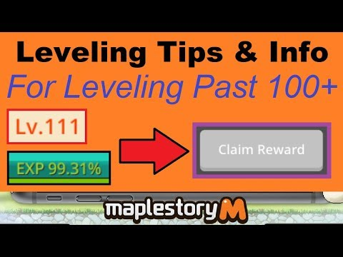 What I Do Leveling Past 100-110+ (Leveling Tips For Level 100+) Maplestory M Video