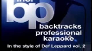 Def leppard-when love and hate collide karaoke/instrumental