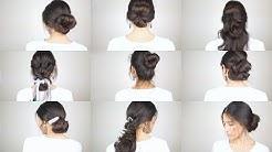 9 Hochsteckfrisuren in 5 Min   Einfache & schnelle Frisuren  Abiball & Hochzeiten Hairstyling  Cansu