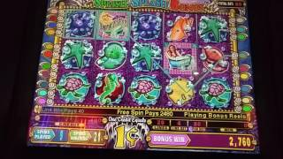 Big Win! Mystical Mermaid slot machine bonus round at Empire City casino