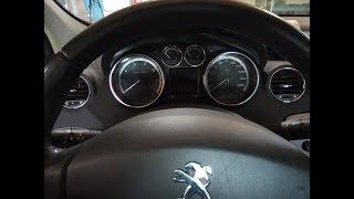 Сброс межсервисного интервала пежо 408 и 308, Обнуление счетчика ТО Peugeot 408 и 308