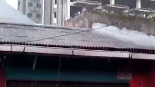 Hujan ES di Kemanggisan Jakarta Barat 22 April 2014