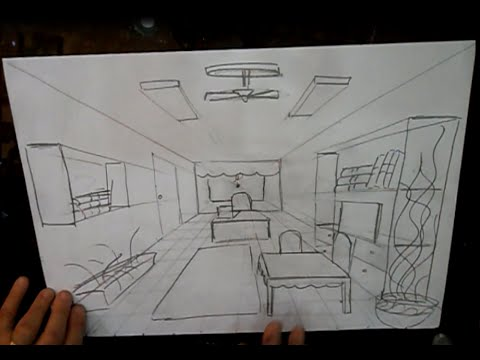 How to draw a 9 nine vanishing point perspective  YouTube