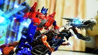 Transformers Stop Motion : Prime VS Megatron 柯博文VS密卡登