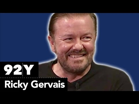 Ricky Gervais with The Hollywood Reporter's Tim Goodman