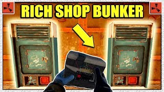 Rust RICH SHOP RAID - Raiding Bunker Base Vending Machine Loot - Vanilla (Rust Raids PvP)