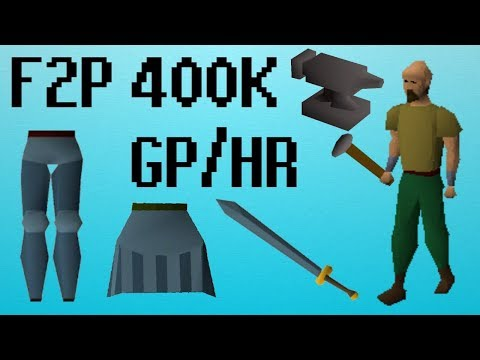 [OSRS] F2P 400k GP/HR + 180k SMITHING XP/HR (High Requirements)