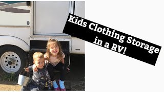 Kids clothes in a RV