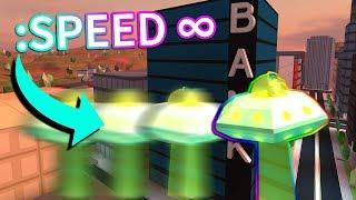 NEW UFO SPEED GLITCH! *UPDATE* (Roblox Jailbreak)