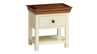 Constance Painted Bedside Table - Pinesolutions